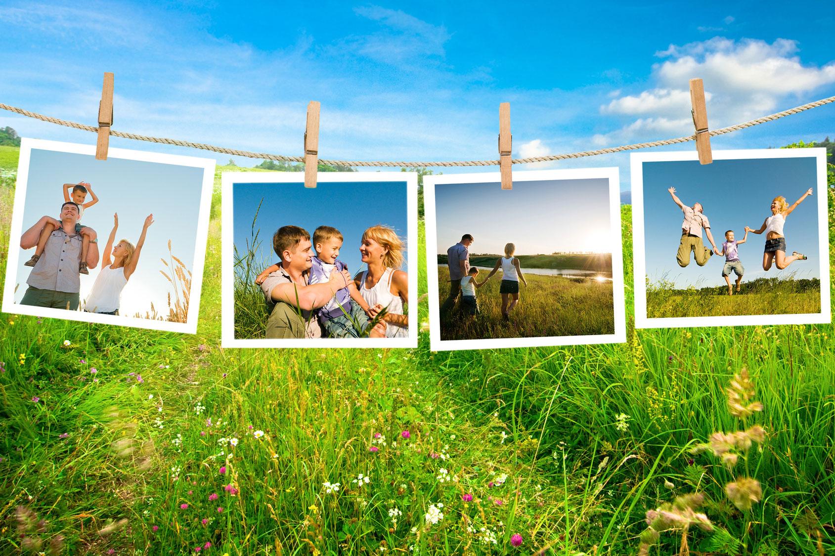 природный неповторимый фотоколлаж на тему лето правом верхнем